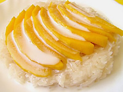 ... Fresh mango combined with coconut sticky rice, drizzled with coconut